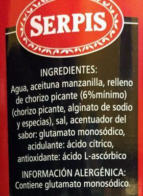 Sabores - Ingredientes - es