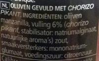 Sabores - Ingrediënten - nl