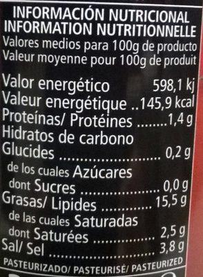 Sabores - Voedingswaarden - fr