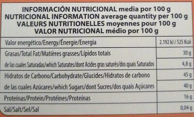 Turrón de Cacahuete Calidad Surpema - Información nutricional - es