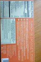 Turrón de cacahuete - Información nutricional - es