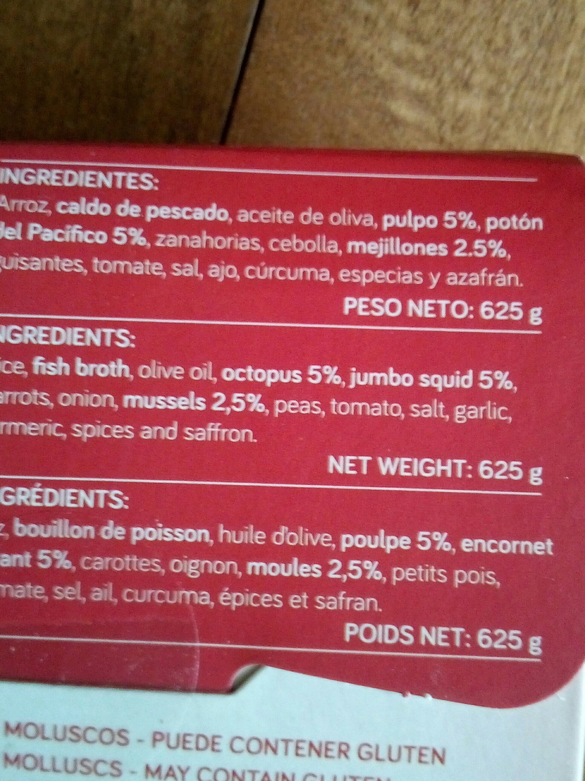 Paëlla Aux Fruits De Mer - Ingrediënten