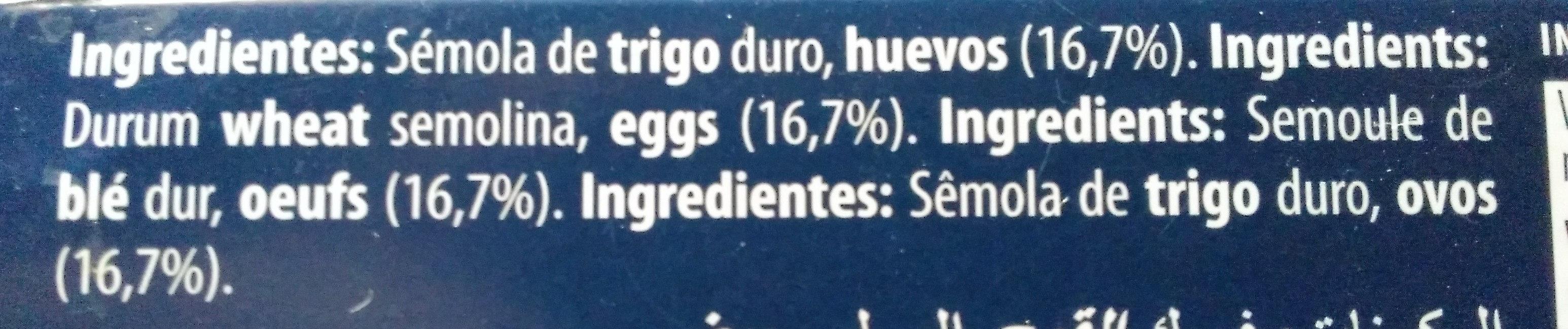 Lasaña al huevo - Ingredientes
