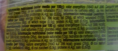Conchas - Informació nutricional