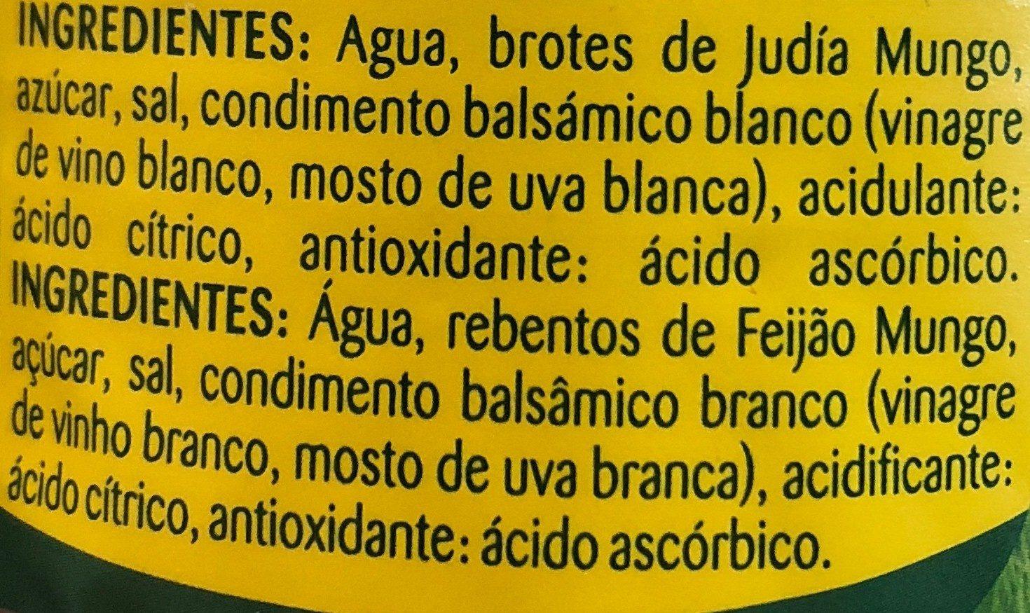 Brotes germinados - Ingrédients
