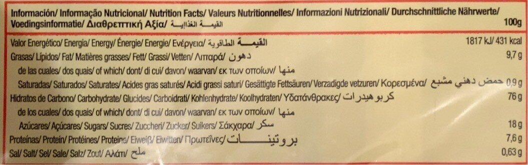 Bolacha Tostada Gullon - Nutrition facts - fr