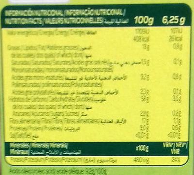 Galleta maría ligera sin sal y sin azúcar - Nutrition facts - es
