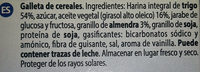 Galletas dar vida - Ingredients - es