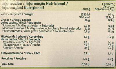 Galleta Gul.diet 3 Fibra 500G - Ingredients