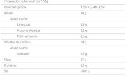 Ligera - Información nutricional