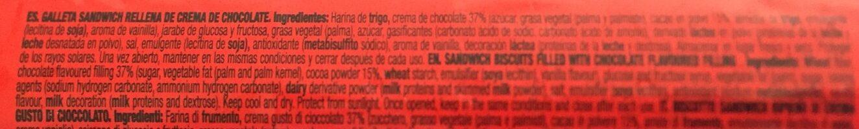 Gullon Duo Sandwich Biscuits - Ingredients - es