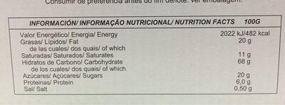Preferida - Información nutricional