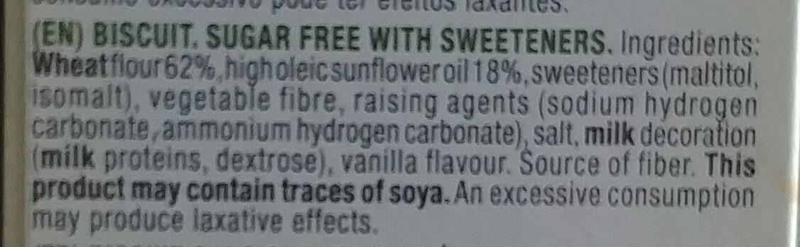 Diet Nature doradas al horno sin azúcares - Ingredients - en