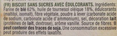 Biscuits - Ingrédients