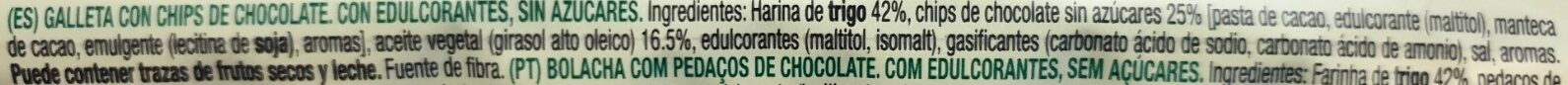 Diet Nature chip choco sin azúcares - Produto - pt