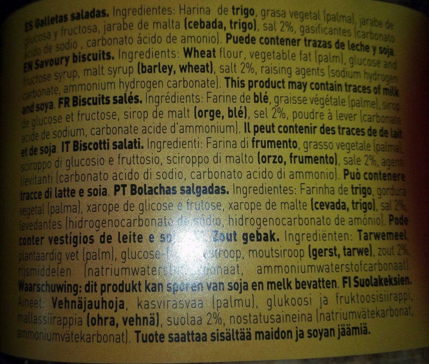 Pick Mini Crackers - Ingredients - fr