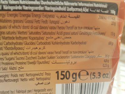 16 Paquets De Gaufrettes Fourrées Choco - Ingredientes