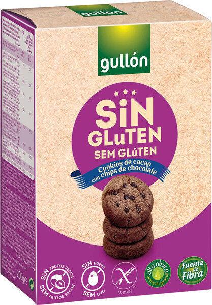 Cookies de cacao con chips de chocolate sin gluten - Produit - es