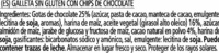 Cookies de cacao con chips de chocolate sin gluten, - Ingredients