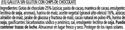 Cookies de cacao sin gluten - Ingredientes