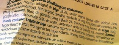Diet-Fibra - Galletas sin azúcares añadidos - Ingredientes