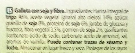 Active soja - Inhaltsstoffe - es