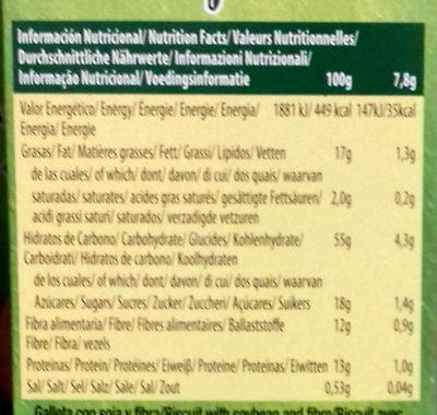 Active soja - Nährwertangaben - es