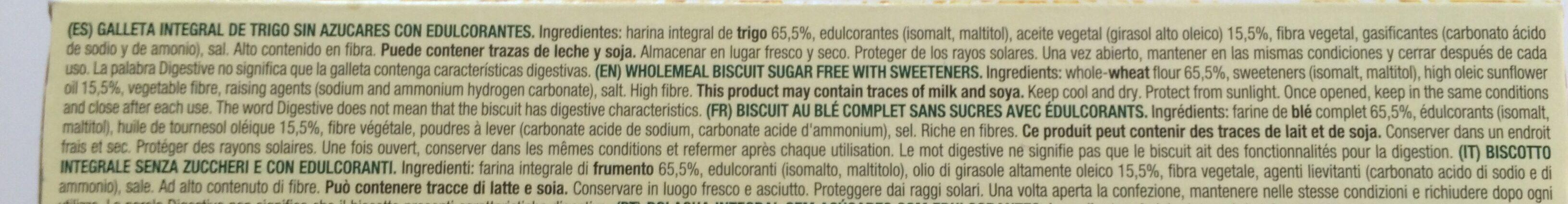 Diet Nature Digestive sin azúcares - المكونات - fr