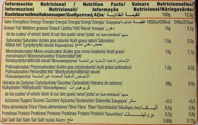 Diet Nature Digestive sin azúcares - Nutrition facts