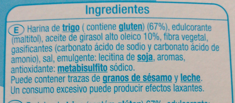Galletas María sin azúcares - Ingredientes - es