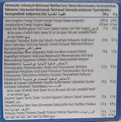 Galletas Digestive Avena choco - Información nutricional
