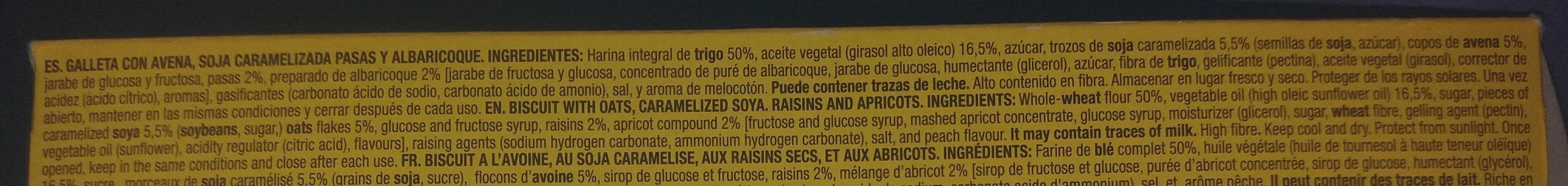 Digestive Muesli - Ingredients - es