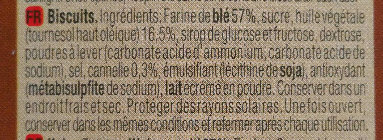Galleta Gul.creme Canela 470GR - Ingredientes