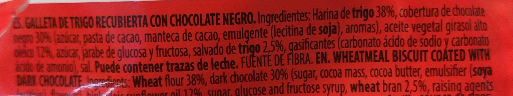 Mini Digestivechoco100g - Ingredients - es