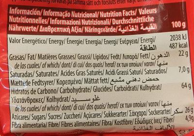 Mini Digestivechoco100g - Informació nutricional