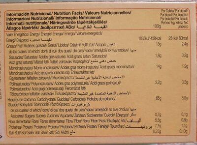 Digestive avena - Valori nutrizionali - es