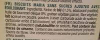 Diet Nature maría dorada sin azúcares - Ingrediënten - fr