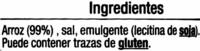 Tortitas de arroz - Ingredientes