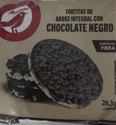 Tortitas de arroz integral con chocolate negro - Producto - es