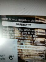 Tortitas de arroz integral con chocolate negro - Ingredienti - es