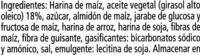 Galleta maría sin gluten sin lactosa - Ingrediënten - es
