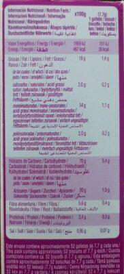 Galleta Maria sin gluten - Información nutricional - es
