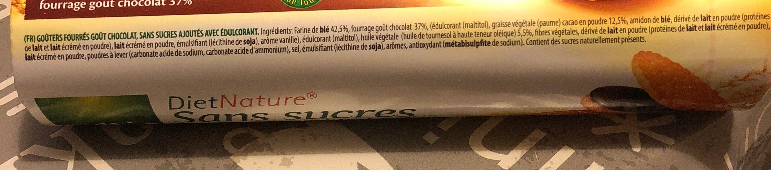 Diet Nature sandwich de chocolate sin azúcares - Ingrédients - fr