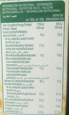 Chocolate e soja - Información nutricional