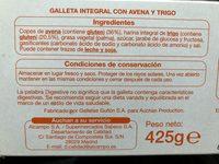 Galletas Digestive Avenea - Ingredients