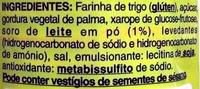 Galletas Maria - Ingredientes