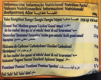 Galleta dorada - Voedingswaarden - es