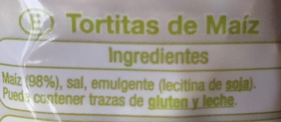 Tortitas de Maíz - Ingredientes - es