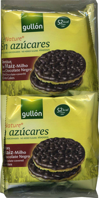 Tortitas de maíz con chocolate negro Diet Nature - Producte