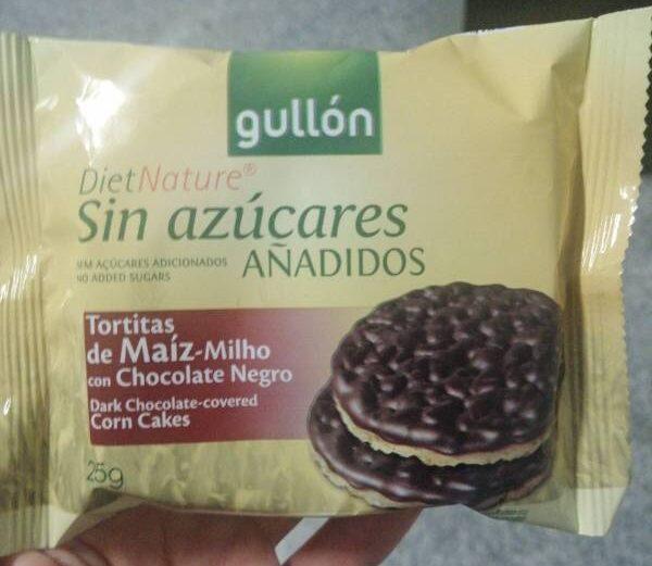 Tortitas de Maiz Milho con Chocolate Negro - Product - en